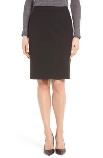 829277c68cf Boss Vilea Tropical Stretch Wool Pencil Skirt In Charcoal