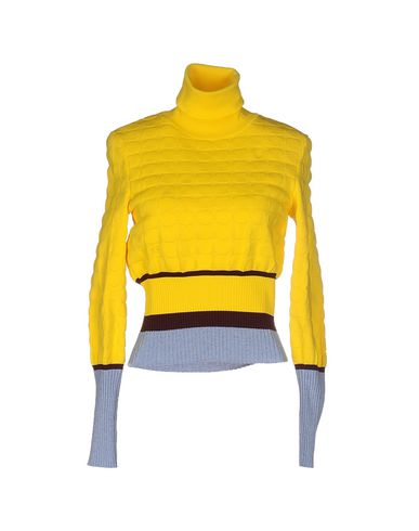 Mary Katrantzou Flosi Contrast-cuffs Roll-neck Sweater In Yellow