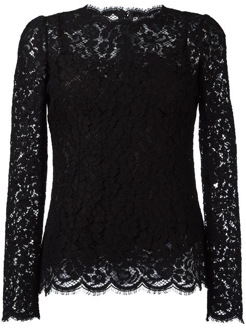Dolce & Gabbana Lace Blouse In Llack