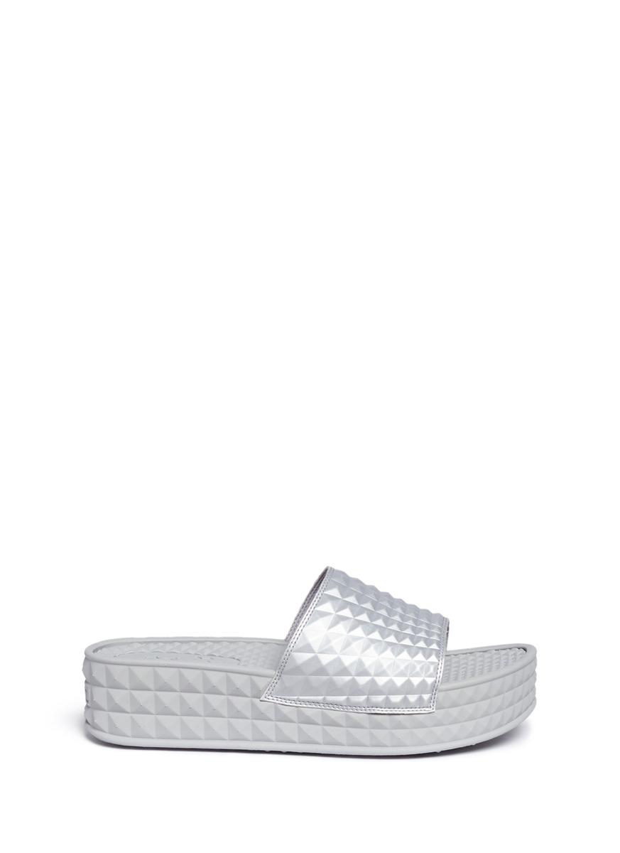 8f168f7e8448 Ash Scream  Prism Foam Rubber Platform Slide Sandals In Silver ...