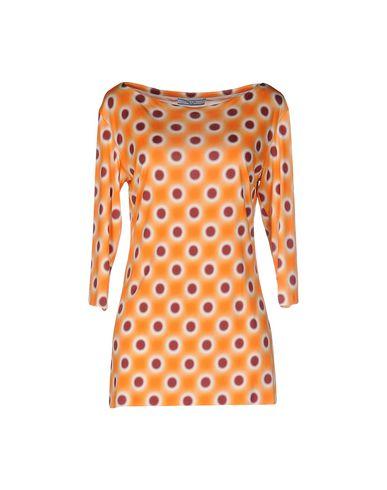 Prada Silk Top In Orange