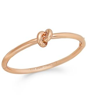 Kate Spade Sailor's Knot Hinge Bangle In Rose Gold Tone