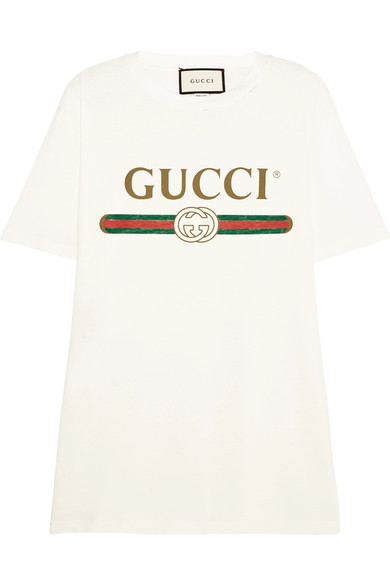 Gucci Women S Faded Logo Floral Embroidered T-Shirt In White In Ivory 4aec9e57ff