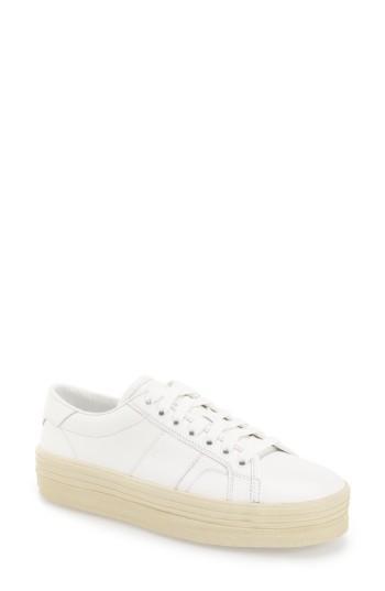 284b5926485 Saint Laurent Signature Court Classic Sl/39 Platform Sneaker In Off White  Leather