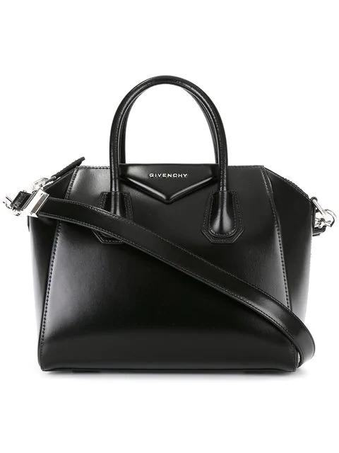 Givenchy Medium Antigona Box Leather Satchel In Black