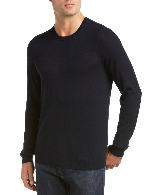 Burberry Richmond Check Trim Cashmere & Cotton-blend Sweater In Blue