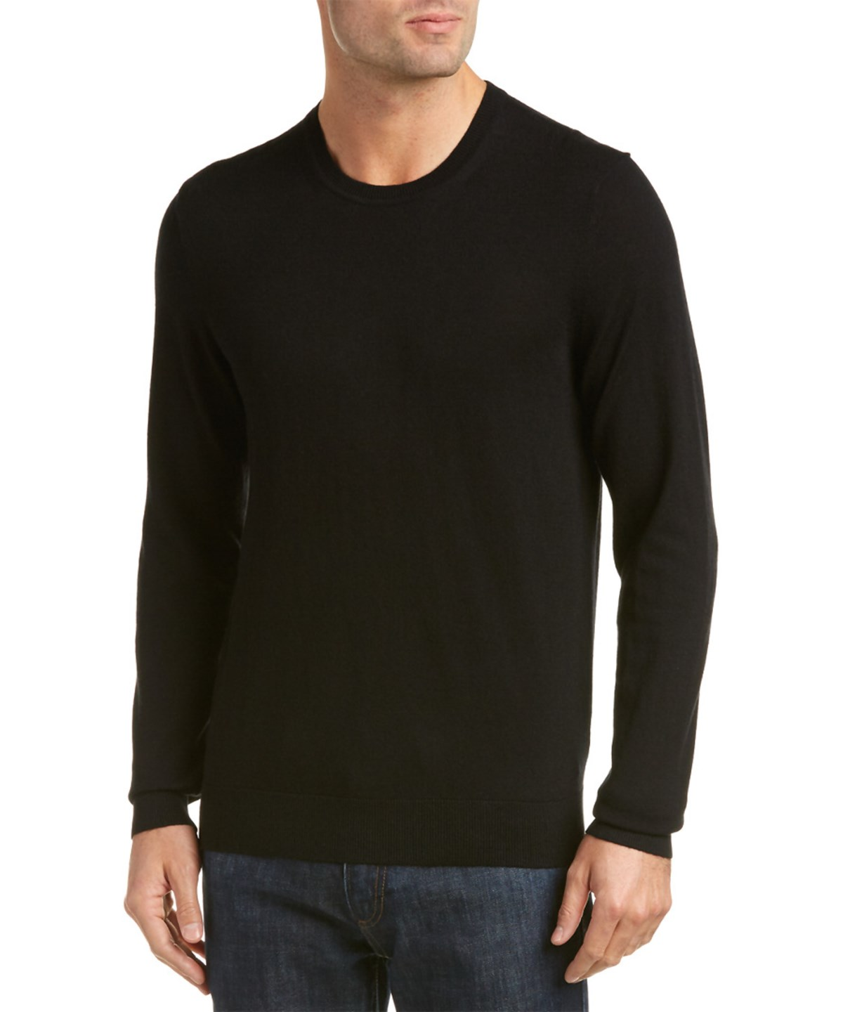 Burberry Elbow Patch Cashmere & Cotton-blend Sweater In Black
