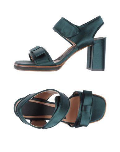 Marni Sandals In Emerald Green