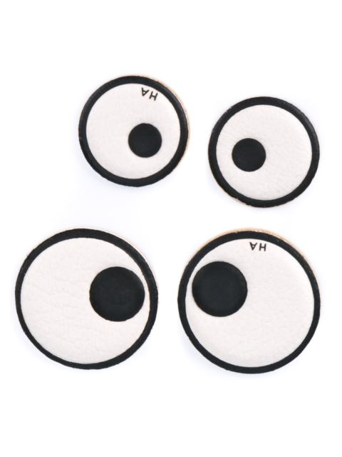 Anya Hindmarch Eyes Leather Stickers In White