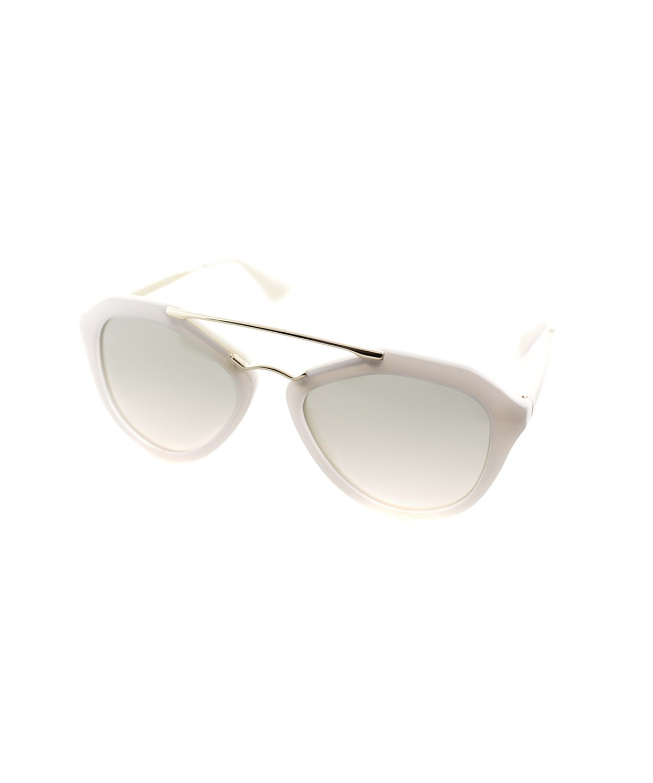 Prada Fashion Plastic Sunglasses In Opal Ivory And Matte Ivory