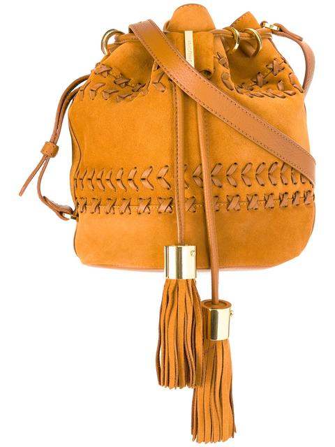 031d4f22f5c09 See By ChloÉ Vicki Small Suede And Leather Bucket Bag In Passito ...