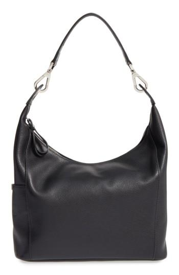 3459f34a2 Longchamp 'Le Foulonne' Leather Hobo Bag - Black | ModeSens