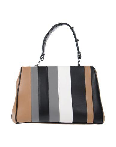 287695a7075ba9 Prada Baiadera Striped Leather Satchel Bag, Camel/Black/Gray (Caramelo+Nero