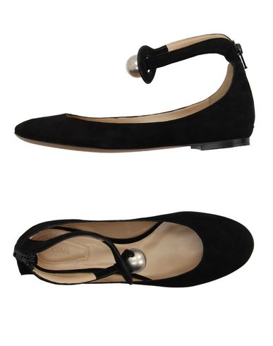 7a49d3f41 ChloÉ Faux Pearl-Embellished Suede Ballet Flats In Llack | ModeSens