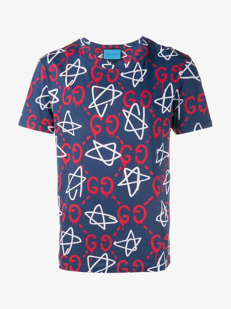43999c40d57 Gucci Ghost Star T-Shirt