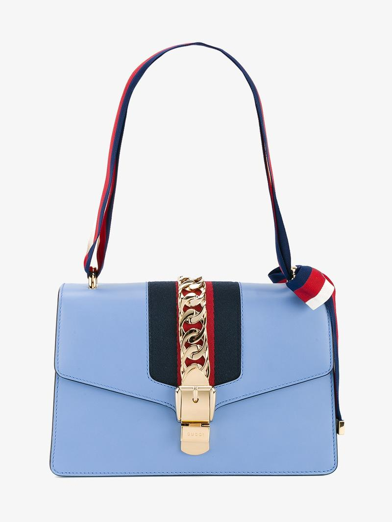 2fd48b868a3 Gucci  Sylvie  Light Blue Shoulder Bag