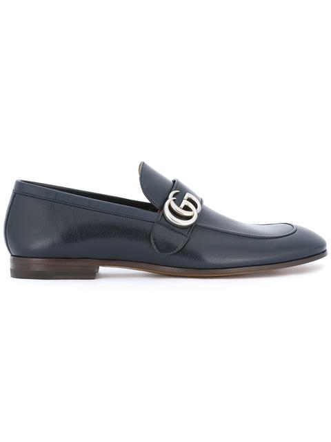 464c72e36636e Gucci Donnie Gg Leather Loafers In 4009 Light Blue | ModeSens