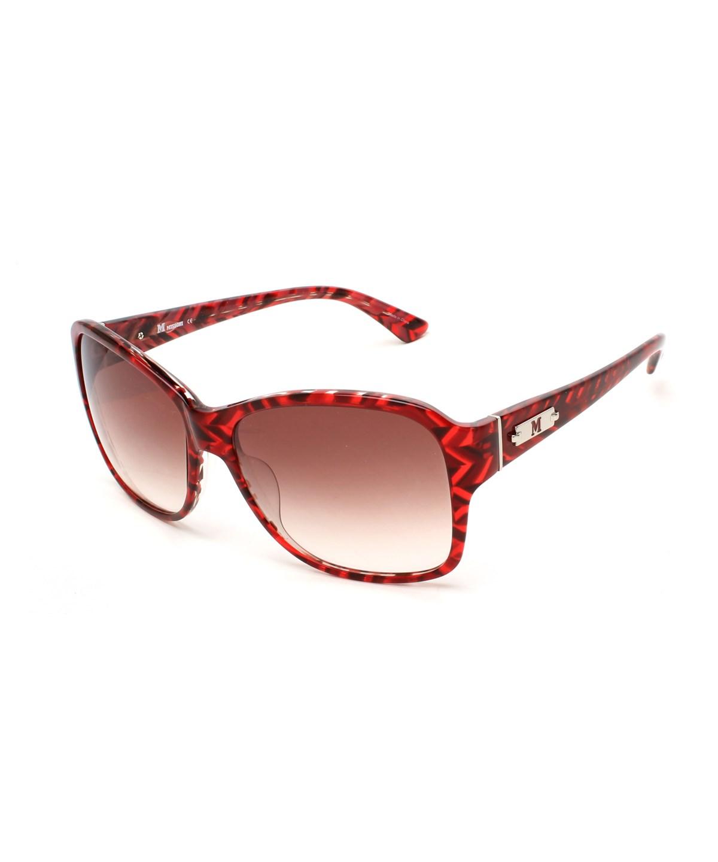 Missoni Women's Striped Oversized Sunglasses Red