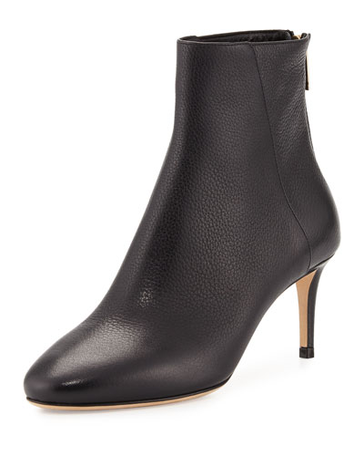 8b049fdd7b04 Jimmy Choo Brody Black Grainy Calf Leather Round Toe Ankle Boots ...