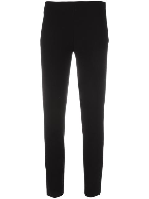 Moschino Slim-fit Cropped Pants In Black