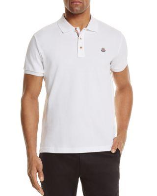 24cd88690aa117 Moncler Logo Detail Cotton PiquÉ Polo Shirt, White | ModeSens