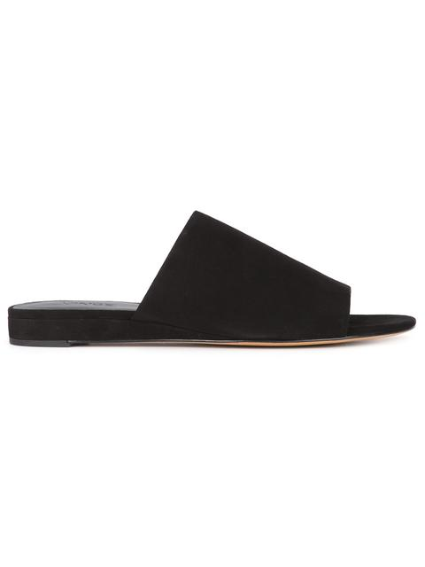 dfbbbec33 Vince Bartley 2 Suede Mule Slide In Black | ModeSens