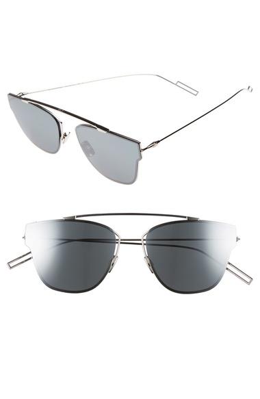 Dior Homme 0204s Rectangle Sunglasses, 50mm In Palladium