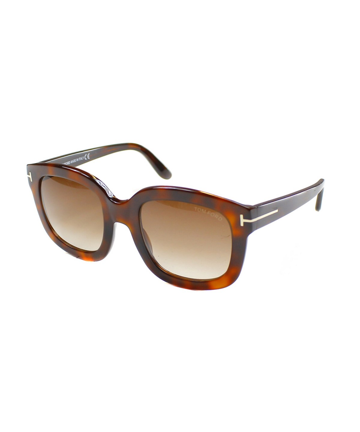 Tom Ford Christophe Rectangle Plastic Sunglasses In Brown