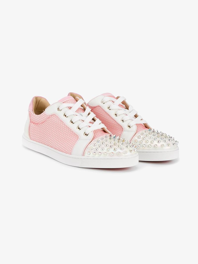 799f88b8977 Christian Louboutin Gondolita Spiked Sneakers In Dolly