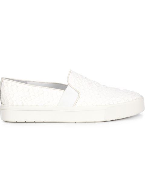 Vince 'berlin' Python Embossed Slip-on Sneaker (women) In Bone
