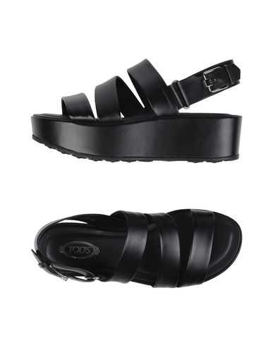 Tod's Leather Sandals In Black