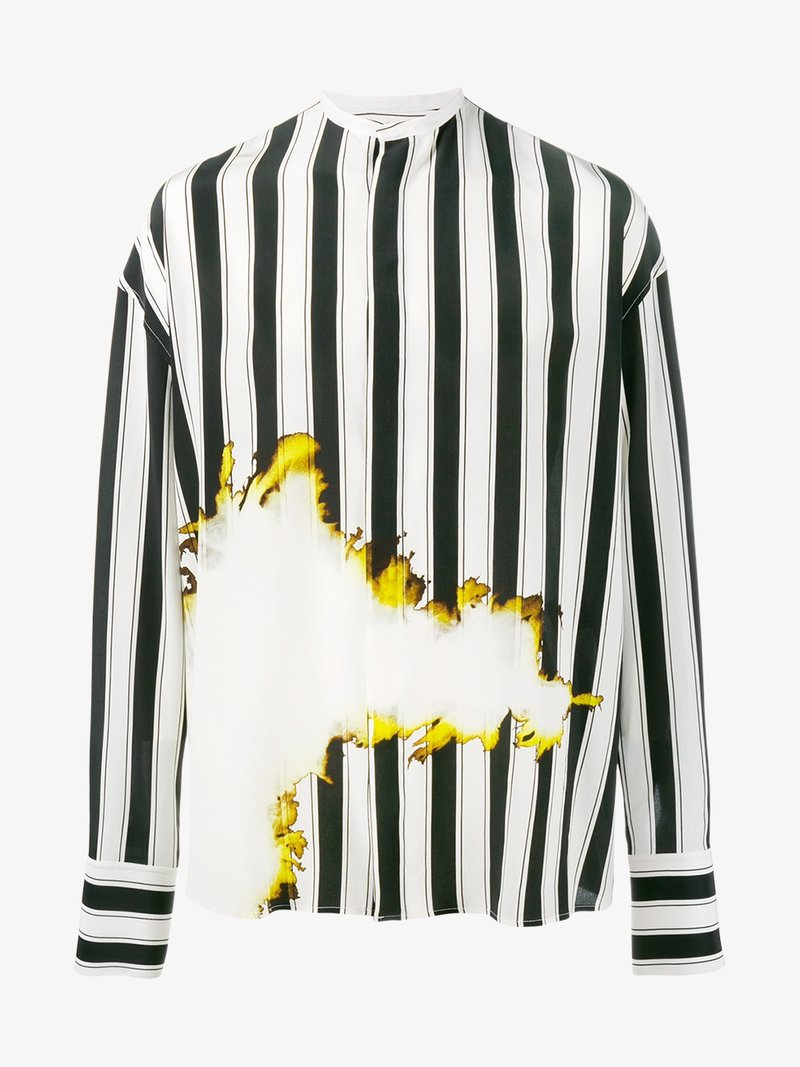 8d6f550ffc Haider Ackermann Bleach And Stripe Print Shirt | ModeSens
