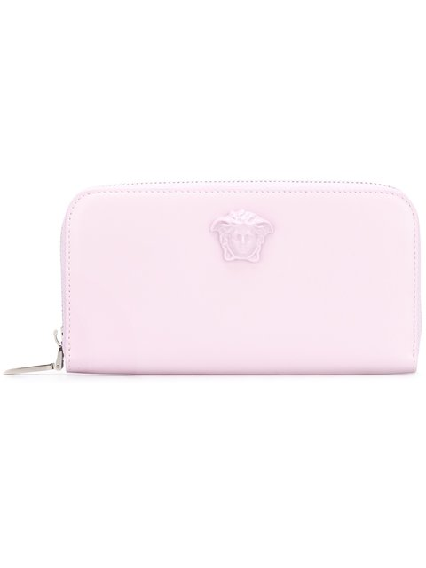 Versace Palazzo Continental Wallet In Pink