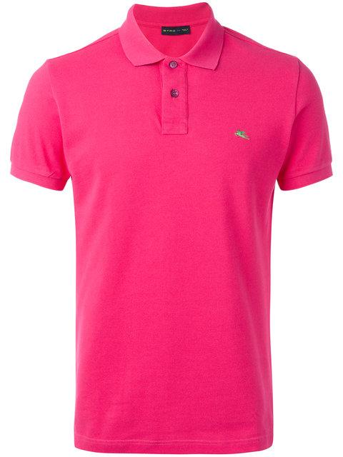 Etro Floral Placket Polo Shirt In Pink
