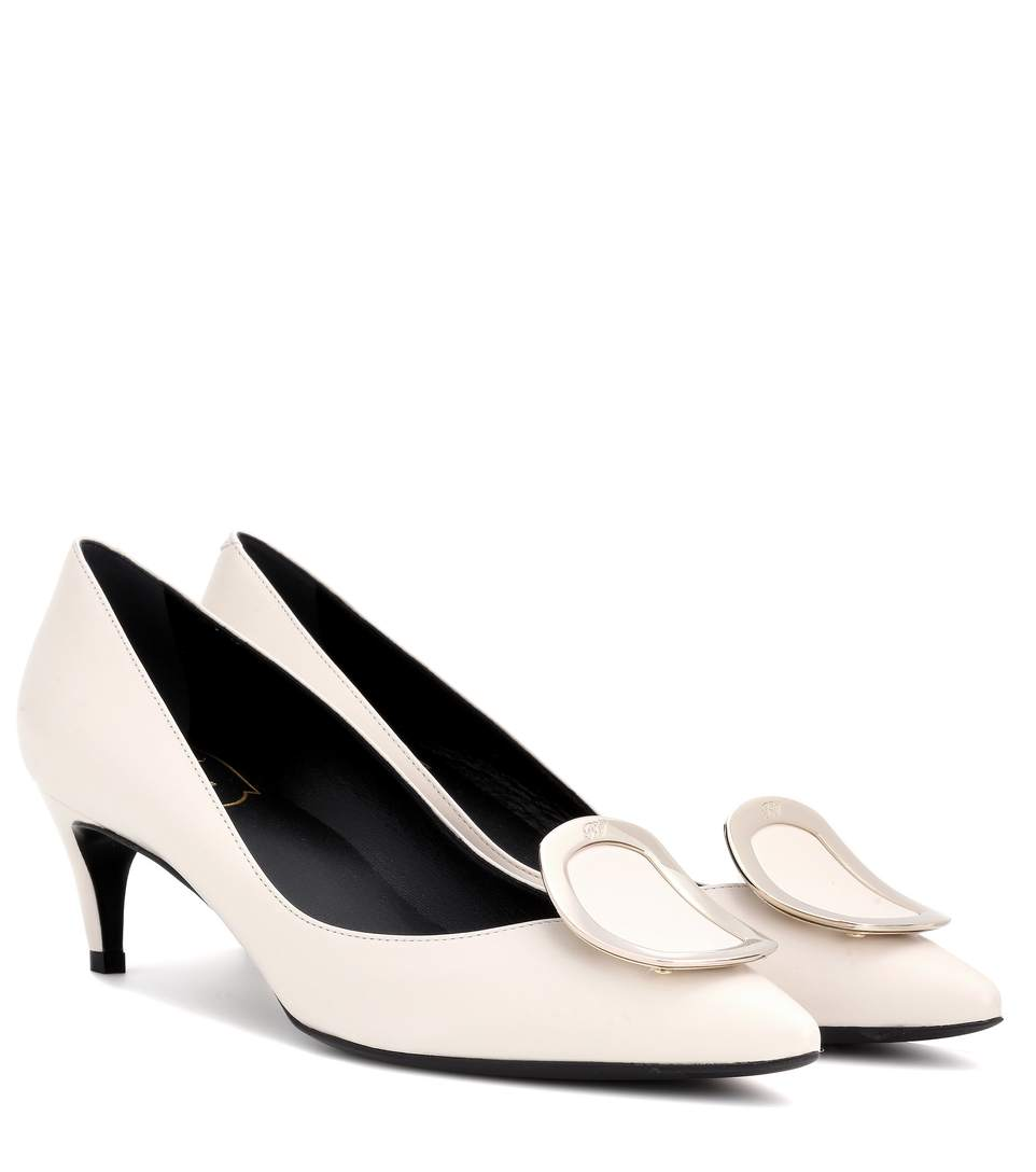 Roger Vivier Decollete Sexy Leather Pumps In White