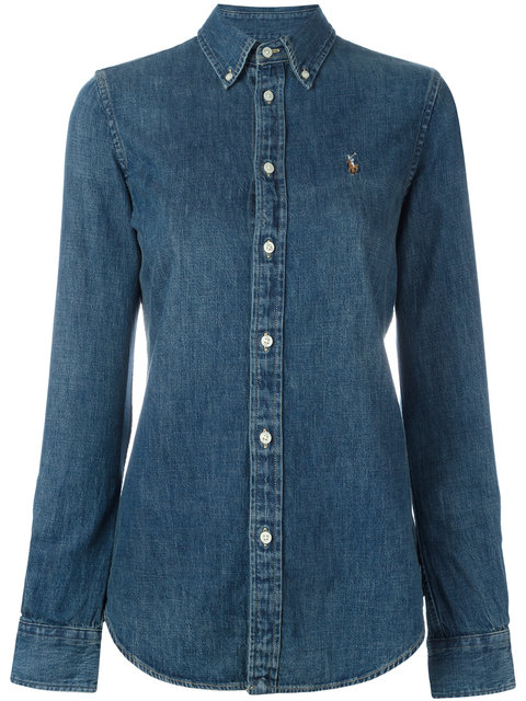 a461383fc4 Polo Ralph Lauren Slim Fit Denim Shirt In Light Wash