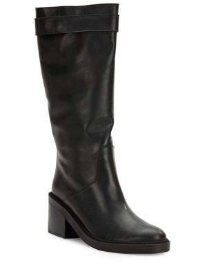 Helmut Lang Black Leather Schist Slouch Boots