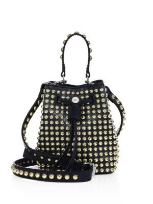 123219a250 Kenzo Elite Studded Leather Bucket Bag In Blue | ModeSens