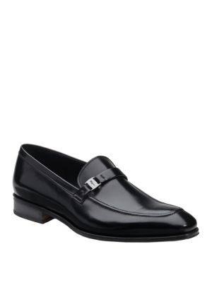 Salvatore Ferragamo Mattia Leather Loafers In Black