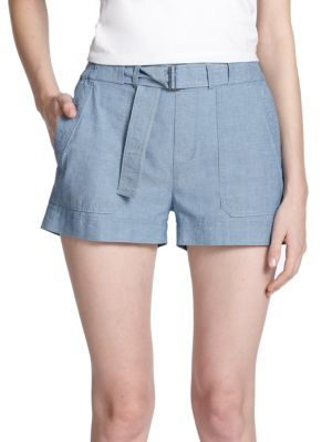 Vince Chambray Shorts In 0400088218361