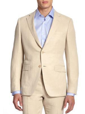 Laura Mercier Collection By Samuelsohn Classic-Fit  Linen & Silk Sportcoat In Tan