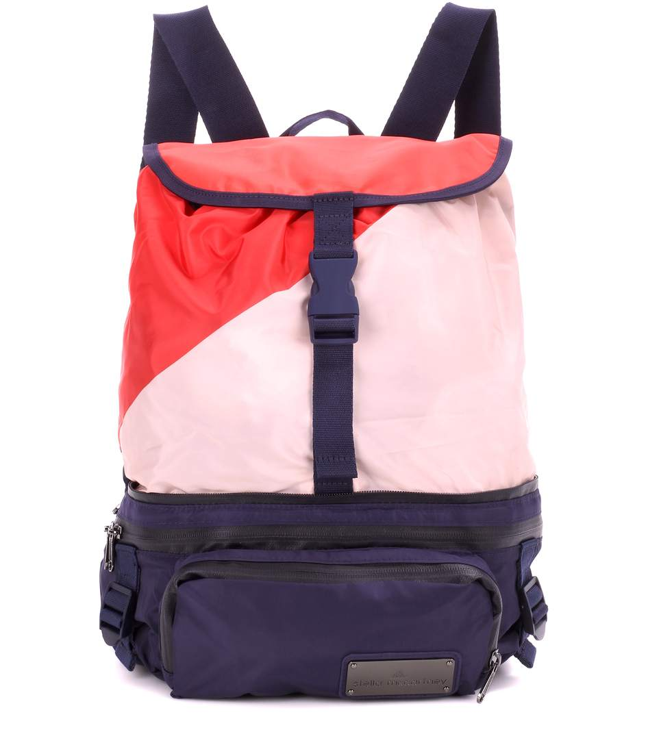 e42c987874 Adidas By Stella Mccartney Run Convertible Backpack In Bright Red/Noble  Ink/Gunmetal
