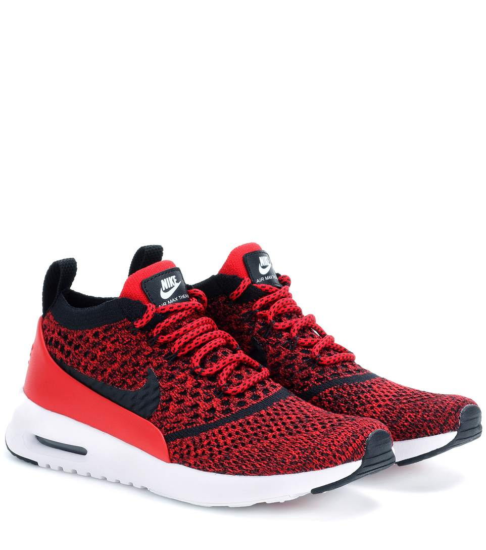 Nike Women S Air Max Thea Ultra Flyknit Lace Up Sneakers In Red ... cd5553ce2