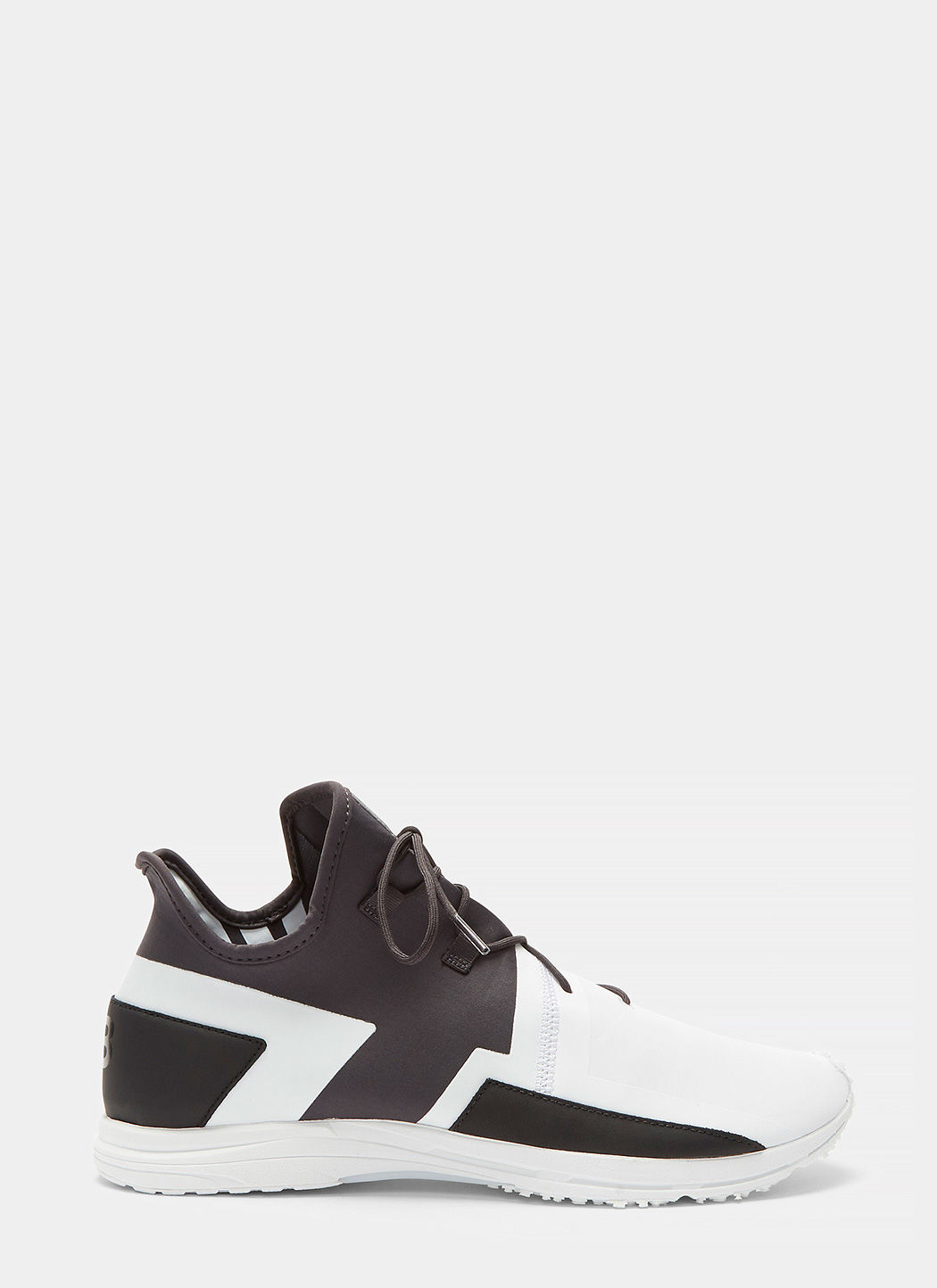 d80ec014c36e7 Y-3 Arc Leather-Trimmed Neoprene And Rubberised-Jersey Sneakers In White  Multi