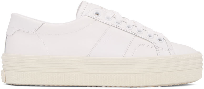 a30ce2a160b Saint Laurent Signature Court Classic Sl 39 Platform Sneaker In Off White  Leather