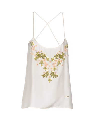 Dsquared2 Silk Top In Ivory