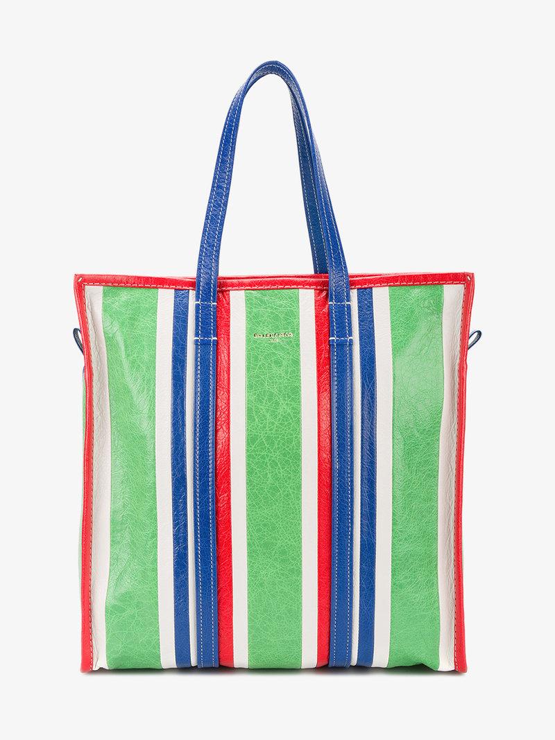 cb72d6a907d Balenciaga Arena Leather Bazar Extra-Small Shopper Tote Bag In Green ...