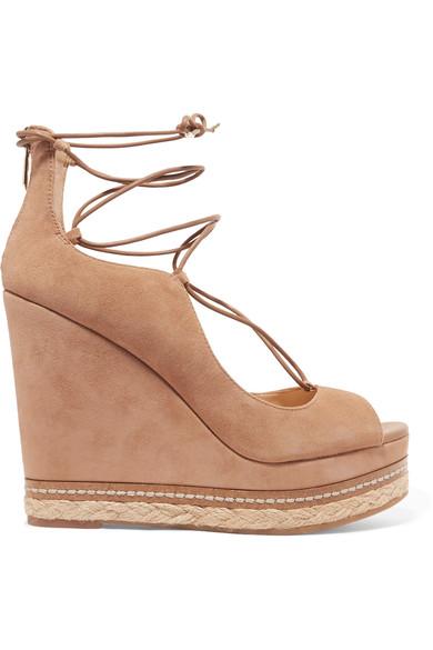 678b7597a Sam Edelman Woman Harriet Suede Espadrille Wedge Sandals Tan In Golden  Caramel