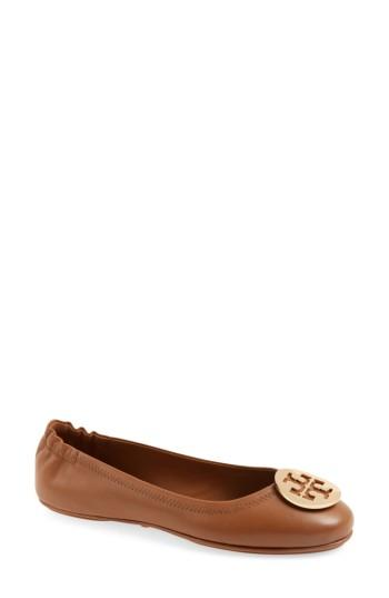 Gucci Minnie Travel Ballet Flat In Royal Tan