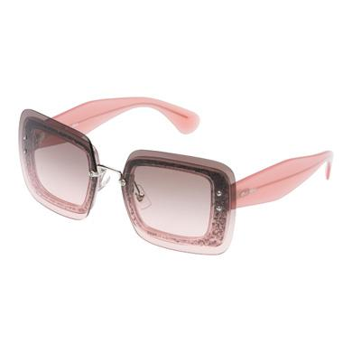 7e48d2bf988e Miu Miu Reveal Eyewear With Glitter In Graphite Gray To Pink Gradient Lenses